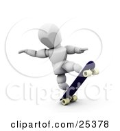 Clipart Illustration Of A White Character Doing Tricks On His Skateboard by KJ Pargeter