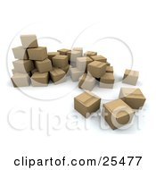 Clipart Illustration Of A Bunch Of Sealed Cardboard Boxes Ready For Shipments