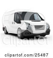 Clipart Illustration Of The Front Of A White Delivery Van by KJ Pargeter