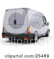 Clipart Illustration Of A Delivery Van Parked At A Shipping Place