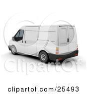 Clipart Illustration Of A Parked White Delivery Van by KJ Pargeter