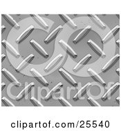 Clipart Illustration Of A Chrome Rivet Background by KJ Pargeter