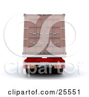 Clipart Illustration Of A Big Rig Truck Backing Up With A Freight Container