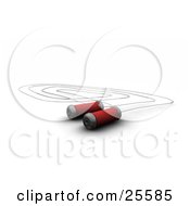 Clipart Illustration Of A Silver Jump Rope With Red Cushioned Handles Over White by KJ Pargeter