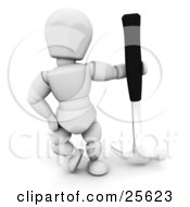 White Character Posing With A Black Handled Hammer by KJ Pargeter