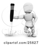 White Character Leaning Against An Upside Down Hammer by KJ Pargeter