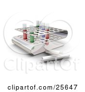 Clipart Illustration Of Colorful Liquid Filled Test Tubes In Slots Of A Tray In A Science Lab