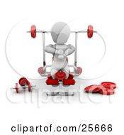 Clipart Illustration Of A White Character Working Out His Legs On A Bench In A Fitness Gym