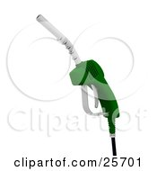 Green Gasoline Pumping Nozzle
