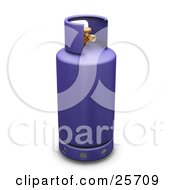 Clipart Illustration Of A Purple Butane Gas Tank
