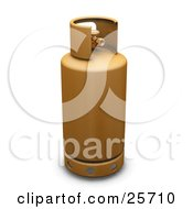 Clipart Illustration Of A Yellow Propane Gas Tank by KJ Pargeter