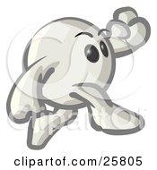White Konkeey Character Running