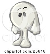 Clipart Illustration Of A White Konkee Character by Leo Blanchette