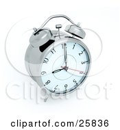 Clipart Illustration Of An Alarm Clock Ringing At 9AM by KJ Pargeter