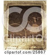 Clipart Illustration Of A Blank Polaroid Photograph With A Peeling And Stained Texture