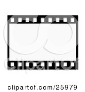 Clipart Illustration Of One Black And White Negative Photography Film Strip