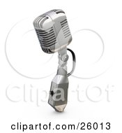 Clipart Illustration Of A Vintage Microphone With A Switch On A White Background by KJ Pargeter