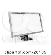 Clipart Illustration Of A Large Silver Flat Computer Screen
