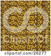 Clipart Illustration Of A Golden And Brown Mosaic Background Sparkling In The Light by elaineitalia