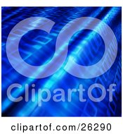 Clipart Illustration Of A Smooth Blue Background Of Zeros And Ones Of Binary Coding