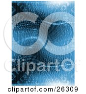 Clipart Illustration Of A Binary Coding Background Of Zeros And Ones Scrunching Towards The Center Blue Tones