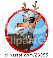 Clipart Illustration Of A Deer With Antlers Resembling Ray Charles Wearing Shades Playing A Piano And Singing by Holger Bogen