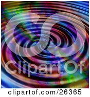 Clipart Illustration Of A Background Of Rippling Colorful Water