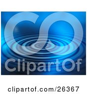 Clipart Illustration Of A Background Of Dark And Light Blue Rippling Water