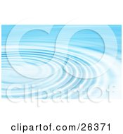 Clipart Illustration Of A Background Of Bright Blue And White Rippling Blue Water