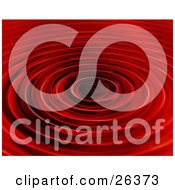 Clipart Illustration Of A Background Of Rippling Red Water
