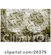 Background Of A Grunge Metal Plate With Rivets