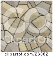 Clipart Illustration Of A Background Of Cobblestones Together Creating A Road by KJ Pargeter