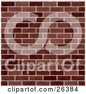 Clipart Illustration Of A Background Of Dark And Light Bricks In A Wall by KJ Pargeter