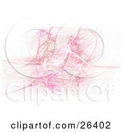 Clipart Illustration Of A Brown Pink And White Fractal In A Ball Over A White Background by KJ Pargeter