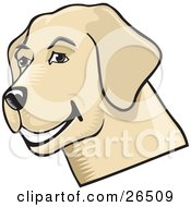Friendly Yellow Lab Dog Grinning by David Rey