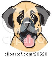 Clipart Illustration Of A Friendly Anatolian Shepherd Dog Hanging Its Tongue Out by David Rey