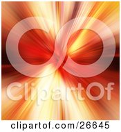 Clipart Illustration Of A Burst Of Red Yellow And Orange Light