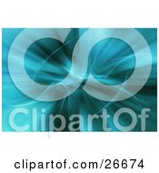 Clipart Illustration Of A Turquoise Background With White Wavy Wisps Curling Through The Center