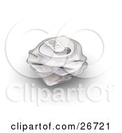 Clipart Illustration Of A Crushed Aluminum Soda Can On A White Background