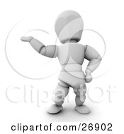 White Character Holding His Arm Out And Presenting Someone Or Something by KJ Pargeter
