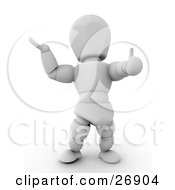 White Character Giving The Thumbs Up And Holding His Arm Out by KJ Pargeter