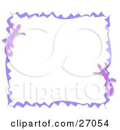 Clipart Illustration Of A Stationery Border Of Purple Geckos And Ribbons by bpearth