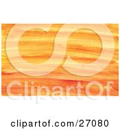 Clipart Illustration Of A Background Of Orange And Yellow Paint Brush Strokes Spanning Horizontally