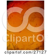 Clipart Illustration Of A Vertical Gradient Red Orange And Yellow Grungy Background With Smears