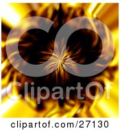 Clipart Illustration Of A Fiery Background With A Bursting Center Of Yellow And Orange Flames