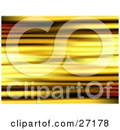 Clipart Illustration Of A Blurred Light Background Of Yellow And Black Lines