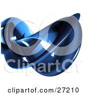 Clipart Illustration Of A Thick Blue Tube Curving Over A White Background