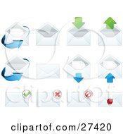 Clipart Illustration Of A Collection Of Letters And Envelopes For Web Design