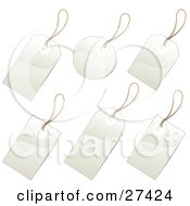 Clipart Illustration Of A Collection Of Blank White Price Tags Or Labels