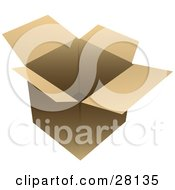 Clipart Illustration Of An Empty And Open Cardboard Box Ready For Shipment by KJ Pargeter